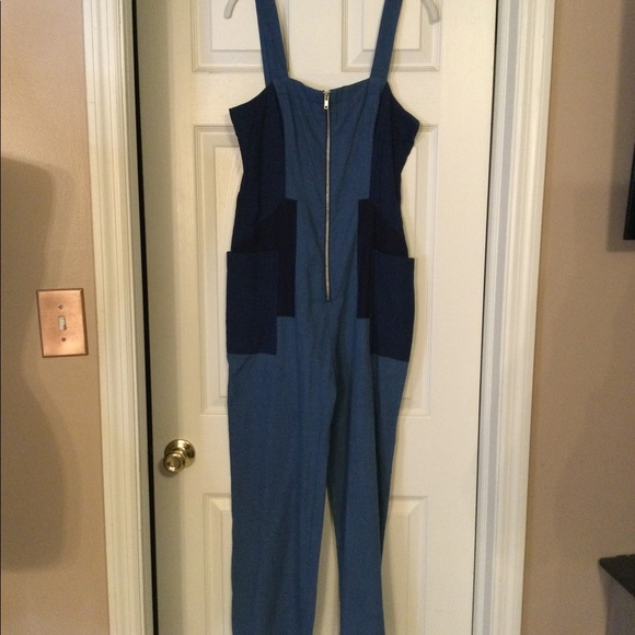 1970/'S Girls Patchwork Overalls Mint
